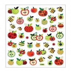 stickers abeille pommes ...