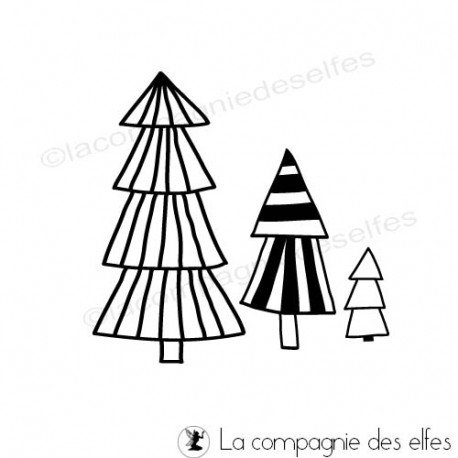 Tampon sapins | fir tree stamp