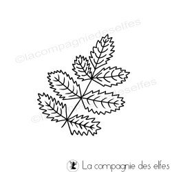 Tampon branche feuilles | leaves rubber stamp