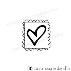 Tampon timbre coeur | heart stamp rubber stamp