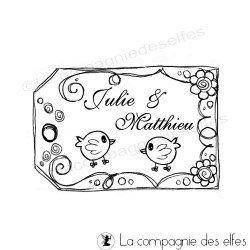 Tampon tag mariage | tag pour étiquette