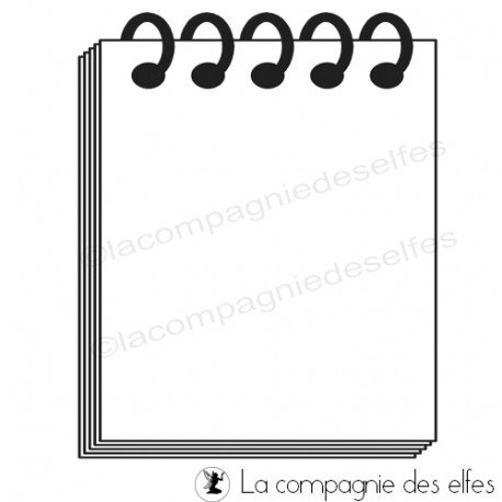 Carte de Janvier 2020. Bloc-notes-grand-modele-tampon-nm