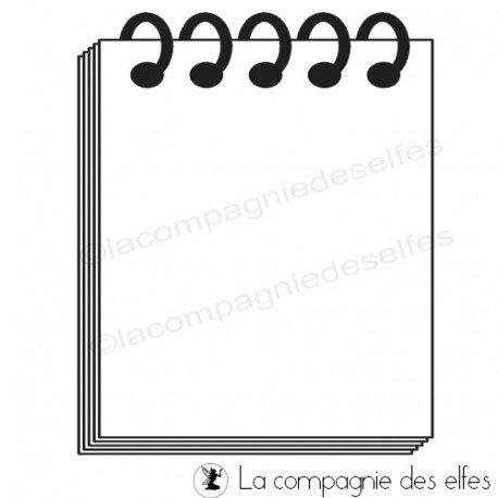 note pad stamp | tampon roadbook | tampon scrap | acheter tampon scrapbooking