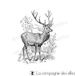 Deer stamp | tampon cerf | hirsch stempel