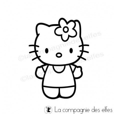 Cartes créatives de Novembre. Tampon-hello-kitty