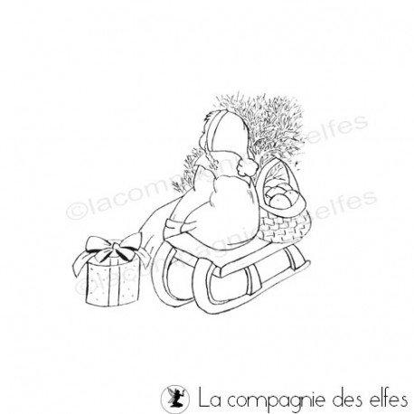 Tampon rétro noel | Tampon vintage hiver
