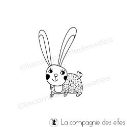 Tampon lapin de pâques | easter rabbit rubber stamp