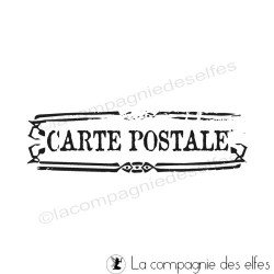 CARTE POSTALE tampon nm