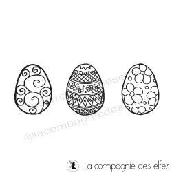 Timbre oeuf de paques | earter egg stamp