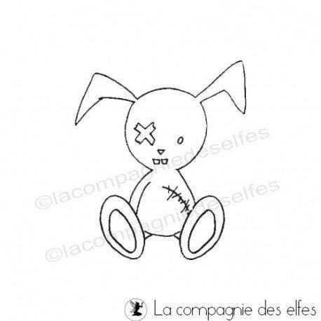 Tampon enfant | tampon lapin | rabbit stamp