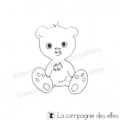 Bear rubber stamp | Bar stempel