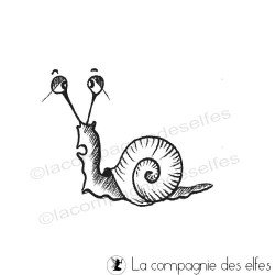 snail rubber stamp | tampon encreur escargot