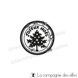 label rond joyeux Noël hiver tampon nm REF1211