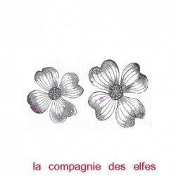 fleur de cornouiller - tampon nm