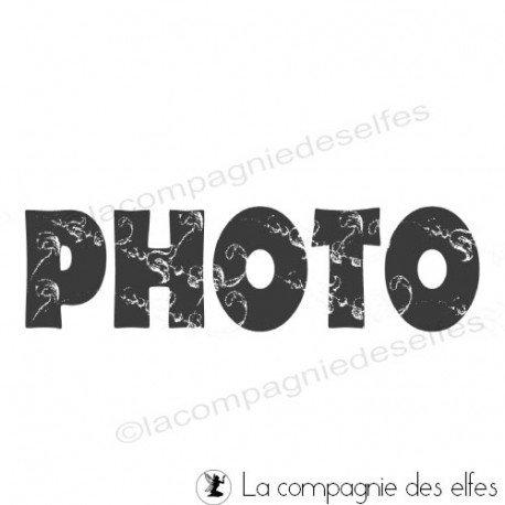 photo stamp | tampon scrap photo | tampon encreur photo