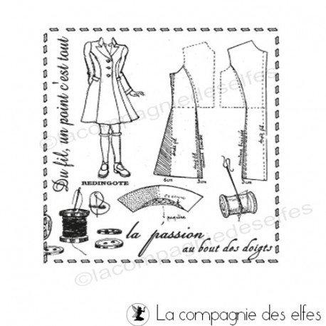 tampon vintage couture   tampon sur la couture