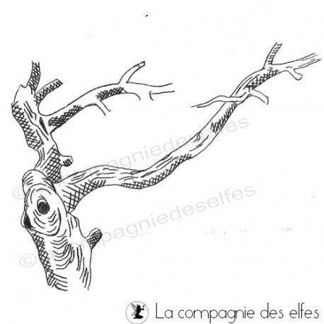 Tampon branche | tampon encreur arbre | tree stamp