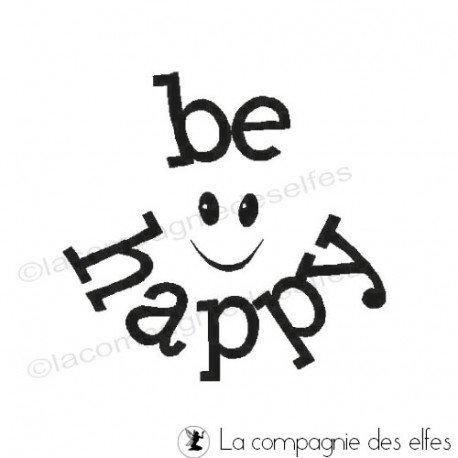 Tampon scrap happy   be happy stamp