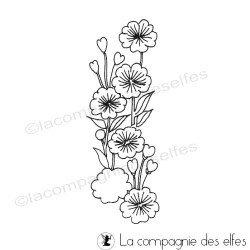 blossom fleur tampon nm