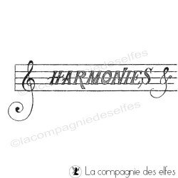 Tampon musique | tampon harmonie | musical stamp