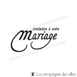 invitation mariage | tampon notre mariage