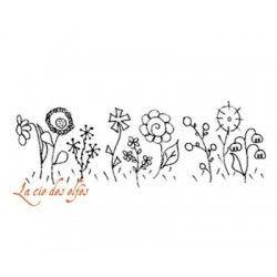 champs de fleurs - tampon nm
