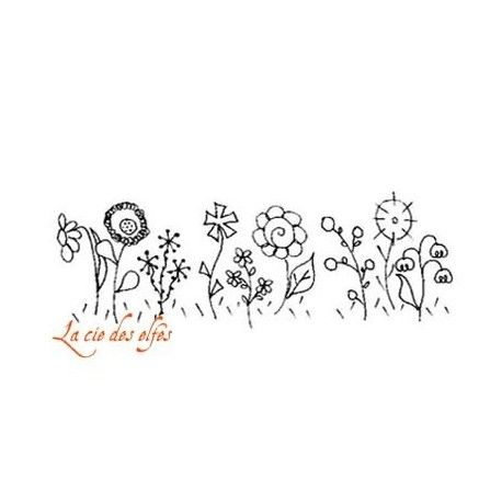 Tampon fleur | tampon fleurs des champs