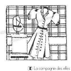 Tampon patron vintage | vintage sewing stamp