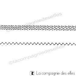 tampons nm fausse couture zig zag