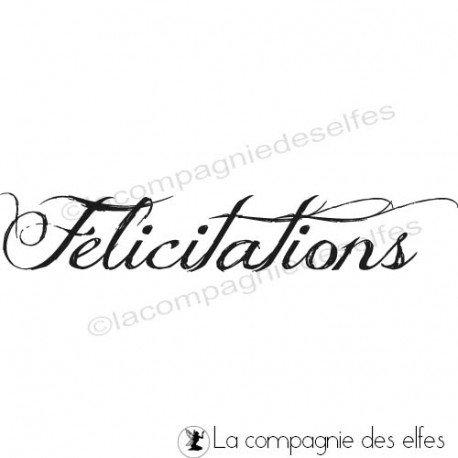 Timbre félicitations | Félicitations stamp