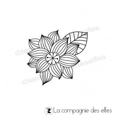 Challenge d'Août exotique. Tampon-fleur-spring