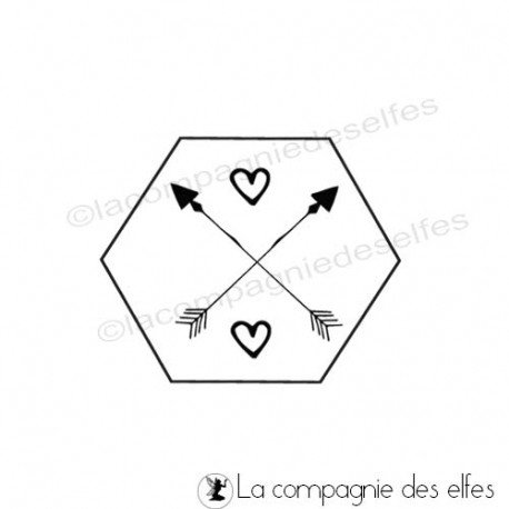 hartz stempel |hexagon rubber stamp