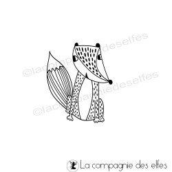 Timbre renard| fox rubber stamp