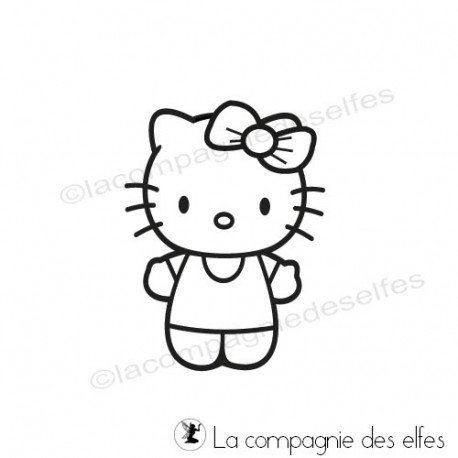 Timbre kitty | hello kitty rubber stamp