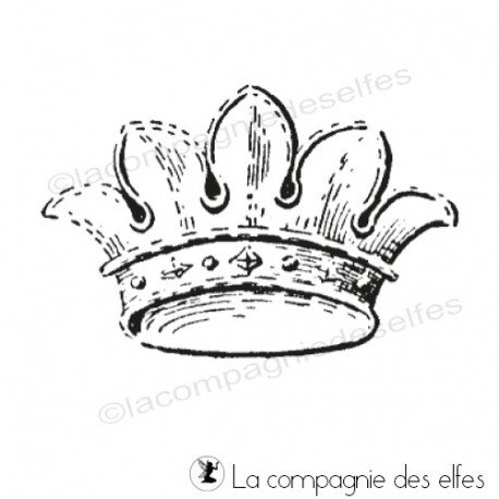 Tampon couronne | krone stempel | crown stamp