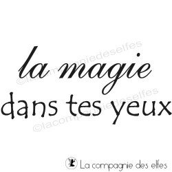 la magie dans tes yeux tampon nm