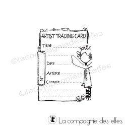 tampon pour ATC | atc rubberstamp | artist trading card