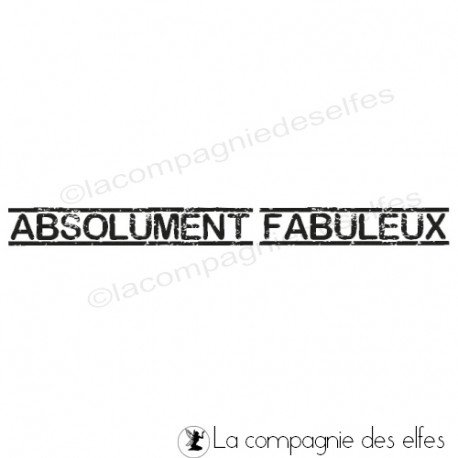 Cachet fabuleux | timbre absolument