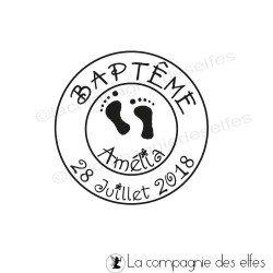 Tampon pied bébé | tampon encreur naissance bébé | tampon pour bébé