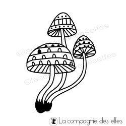 champignon timbre  mushroom rubber stamp