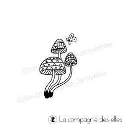 Tampon champignon et insecte