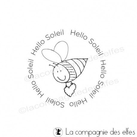 sonne stempel | bee rubber stamp