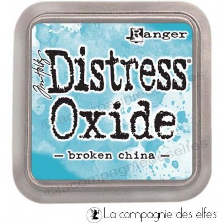 Page scrapbooking Février 2020. Distress-oxide-broken-china