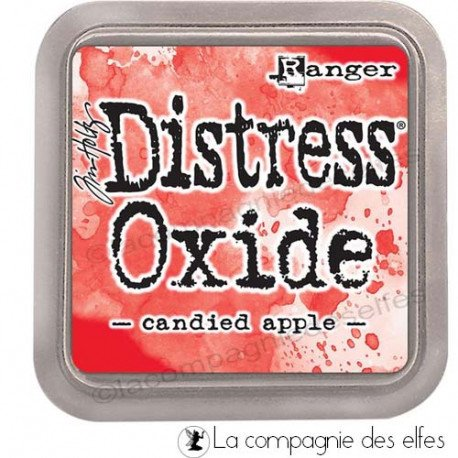 Cartes créatives Août 2019. Distress-oxide-candied-apple