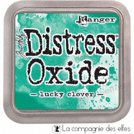 10 juin tuto scrap Distress-oxide-lucky-clover