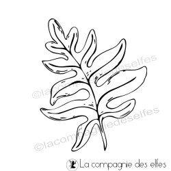 farn stempel |round leaf rubber stamp