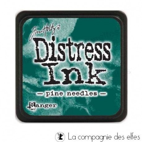 carte libre 1/3 Distress-encreur-pad-pine-needles