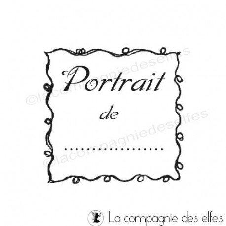 Tampon portrait   tampon encreur portrait