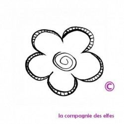Tampon fleur | achat cachet floral
