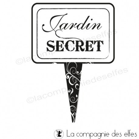 Timbre jardin secret | acheter tampon jardin